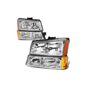4Pcs Chrome Headlight