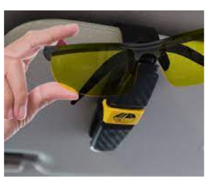 How to fix sunglass holder in car